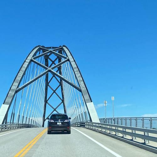 the bridge into Vermont