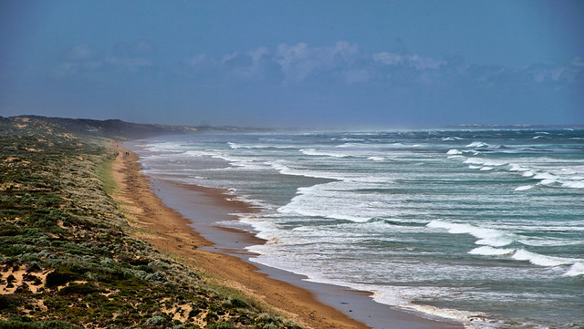 from Middleton to Goolwa tIdes in and surfs up - explored Sept 2021