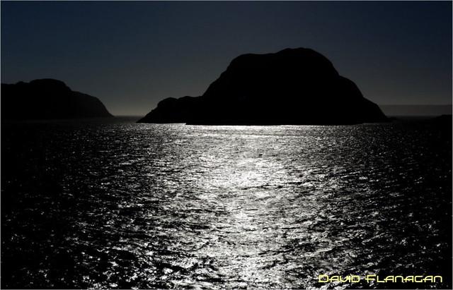 Moonlight on the sea.