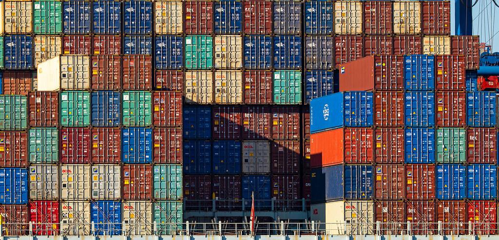 Hamburg Waltershof Container
