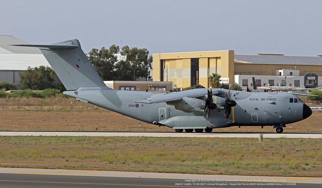 ZM411 LMML 17-09-2021 United Kingdom - Royal Air Force (RAF) Airbus A400M Atlas C.1 CN 039