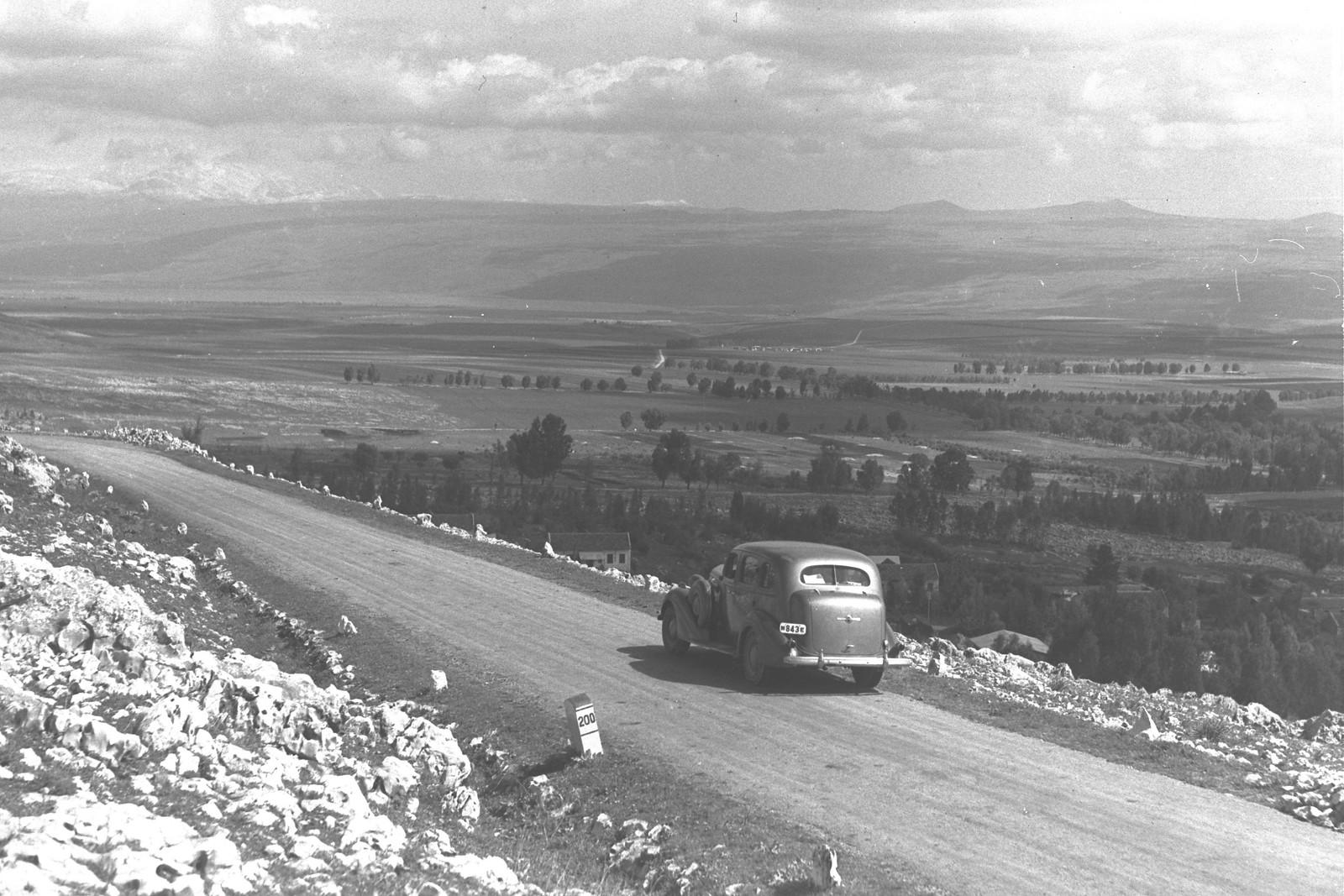 1940. Дорога в Цфат из Рош-Пина