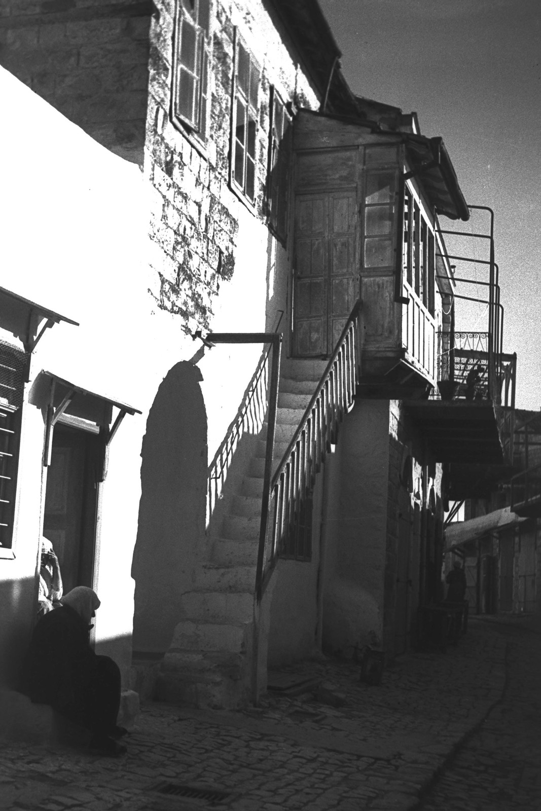 1934. Узкая улочка в городе Цфат.