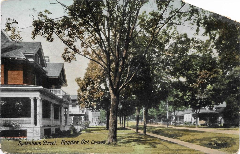 Vintage Postcard of Sydenham Street, Dundas postmarked 1912