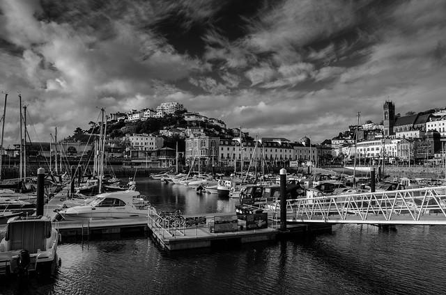 Torquay Harbour B&W
