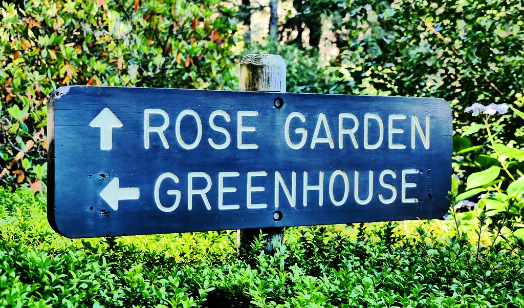 Directions to the Rose Garden and Greenhouse