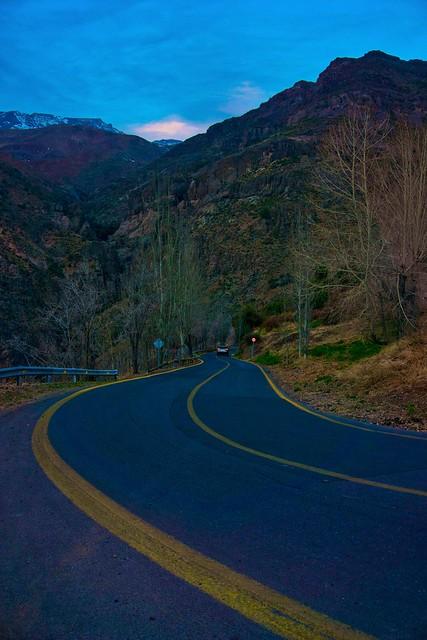 Viaje a través de las montañas
