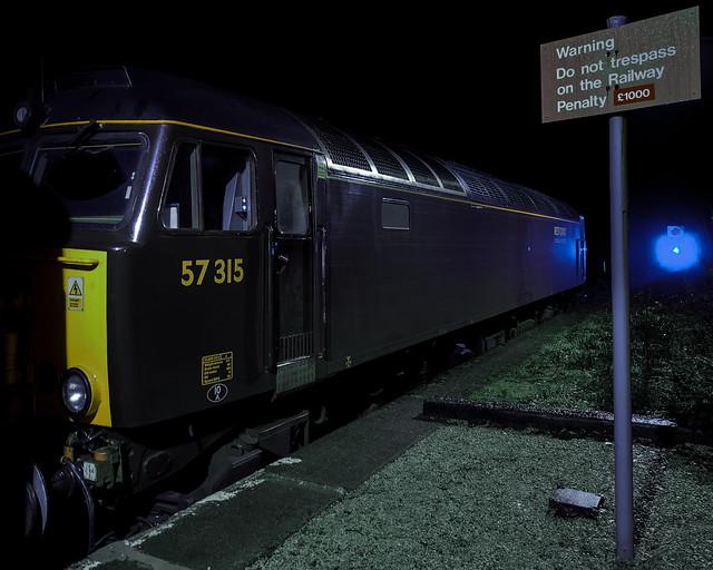 At Fort William: British Rail Class 57 Locomotive 57314