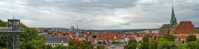 Erfurt - Blick auf den Domplatz und St.Severi Kirche & Dom