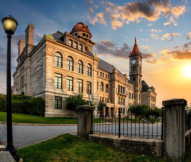 The Sun sets of the 1886 BMC Durfee High School
