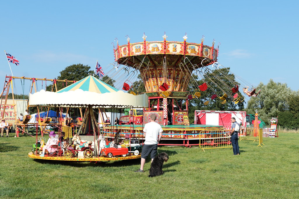 Harris's Funfair West Grinstead & District Agricultural Society Ploughing Match. Partridge Green West Sussex UK