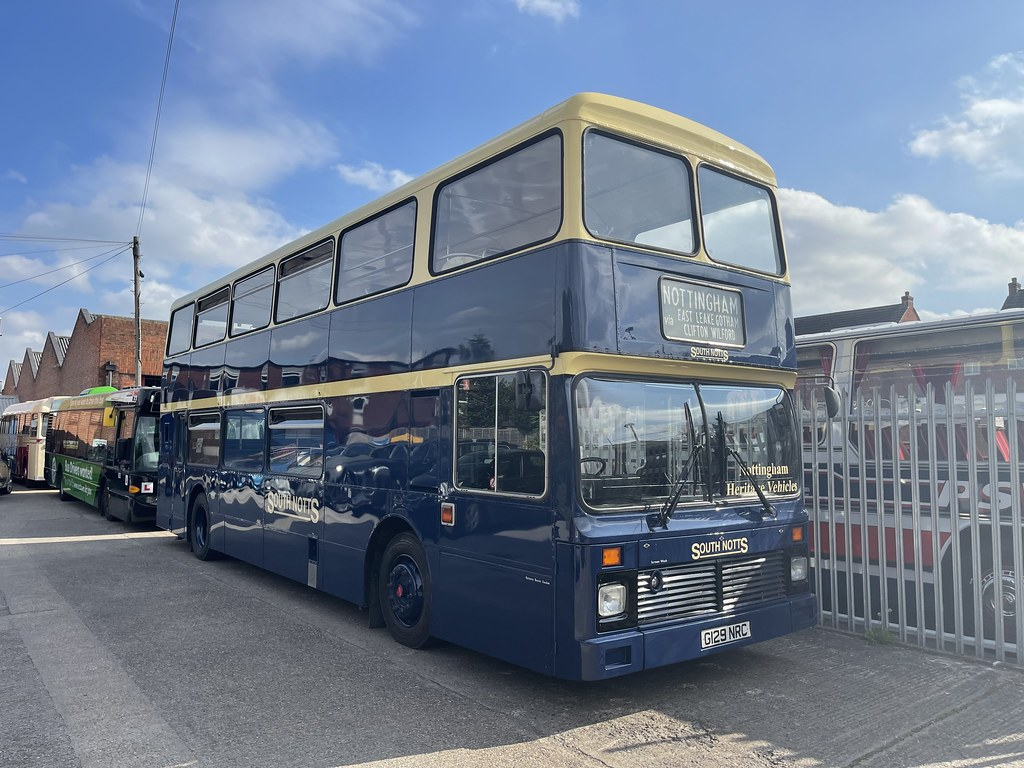 South Notts,Gotham.1989 Leyland Olympian.G129NRC 129.with Northern Counties Palatine Body.