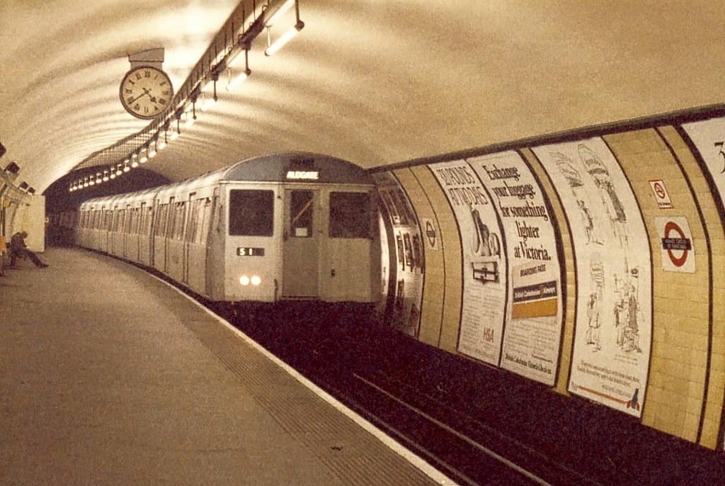 A Stock Metropolitan Line Train at Kings Cross St Pancras (L)