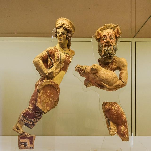 Antefix: Dancing Silenus and Maenad - I