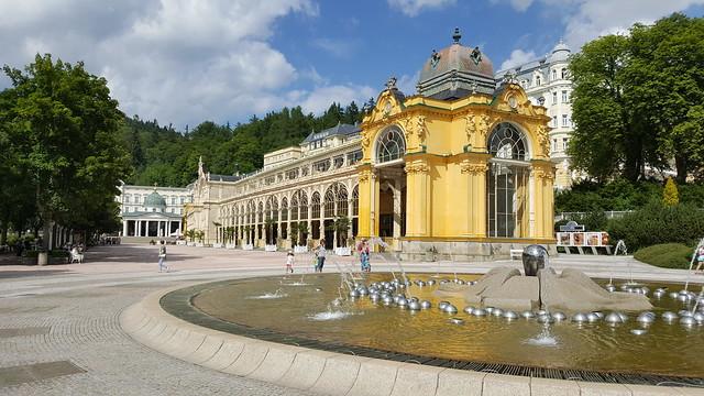 The main colonnade of Mariánské Lázně (also known as the Maxim Gorky Colonnade)