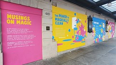 Kiddie murals 'Musings on Magic' on the exterior of The Curran, hosting 'Harry Potter and the Cursed Child' (Saturday - 18 September 2021) (1)