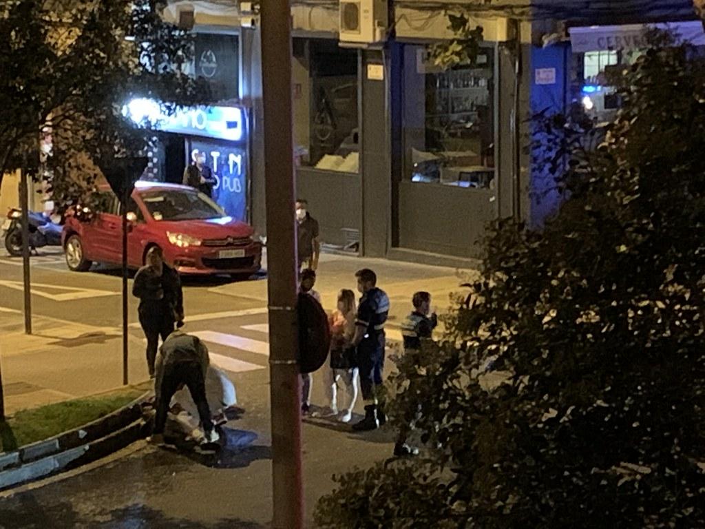 Pelea con heridos en la avenida de Portuagal.  (1)