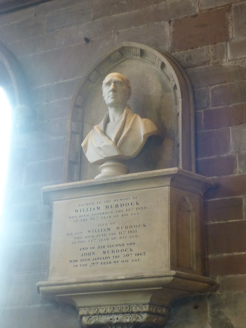 Memorial to William Murdock - St Mary's Church, Handsworth