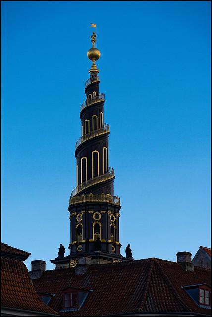 The tower of Our Saviour's Church   Copenhagen, Denmark