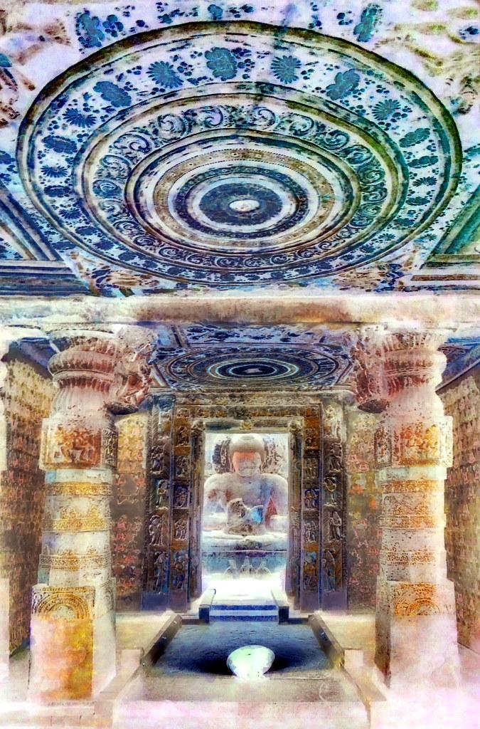 India - Maharashtra - Ajanta Caves - Cave 1 - 60bb