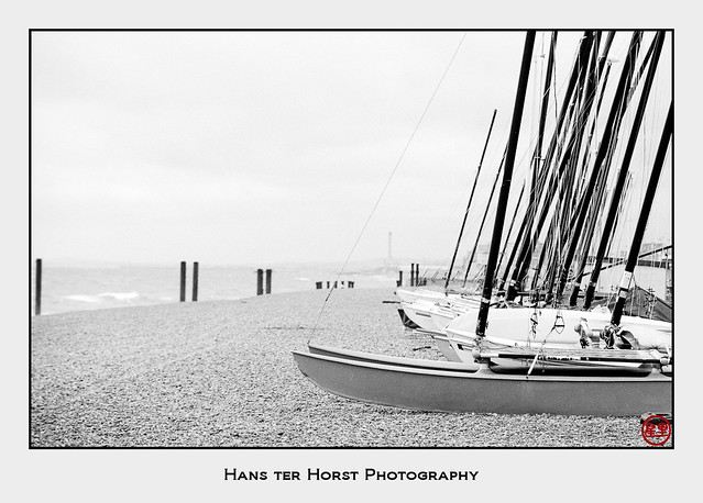Sailboats on the beach of Brighton