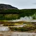 Extreme Landschaft im Gebiet des Strokkur