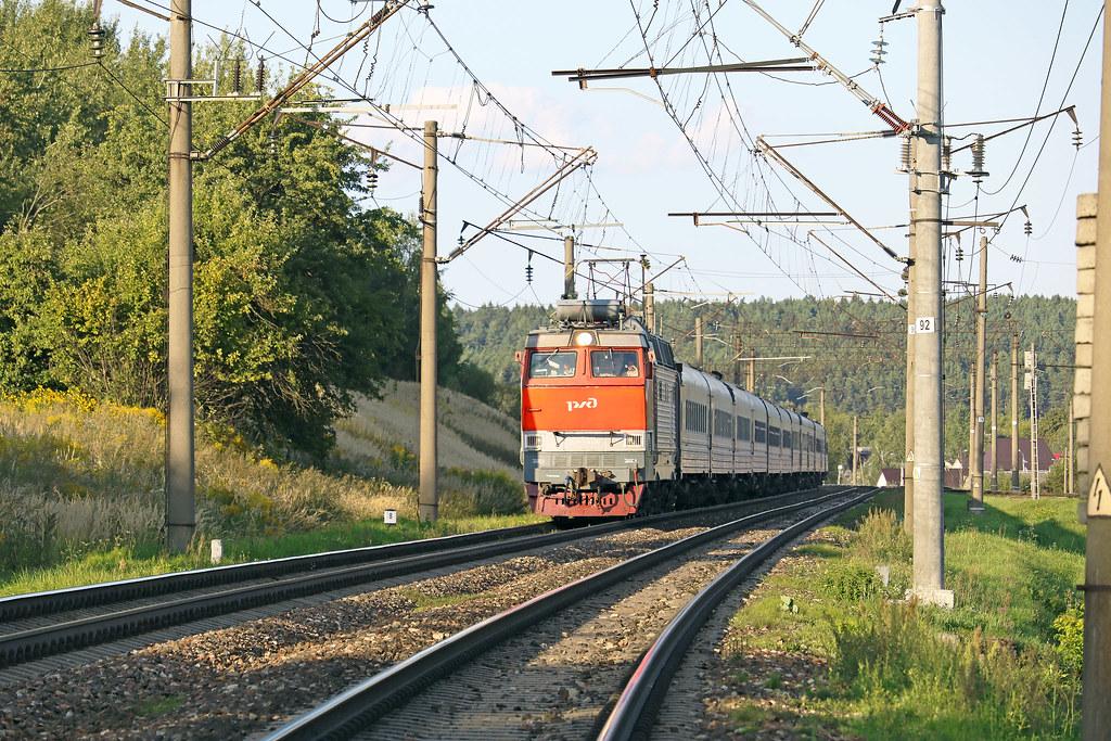 Электровоз ЧС4Т-404 на перегоне путевой пост Городнянский /Орша-Центральная.