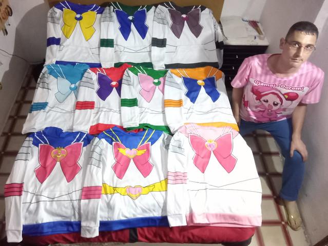 Sailor Moon, Chibi Moon, Mercury, Mars, Jupiter, Venus, Uranus, Neptune, Pluto Hoodies / Sudaderas