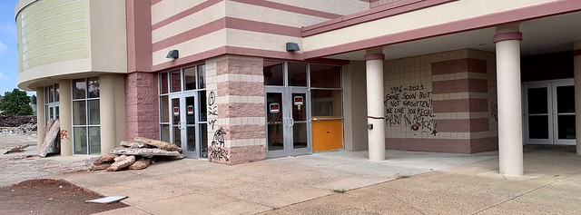 2021 261/365 9/18/2021 SATURDAY - Graffiti - Demolition of Countryside Regal 20 Movie Theater