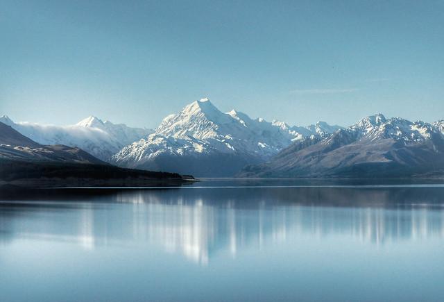 Mount Cook and Lake Pukaki.