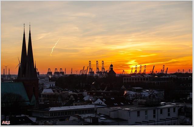Über den Dächern der großen Stadt