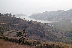 UG Kisoro area Lake Bunyonyi viewpoint - 1965 (W65-A81-36)