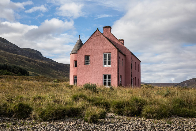 The Pink Hoose, Loch Glass, Rossshire