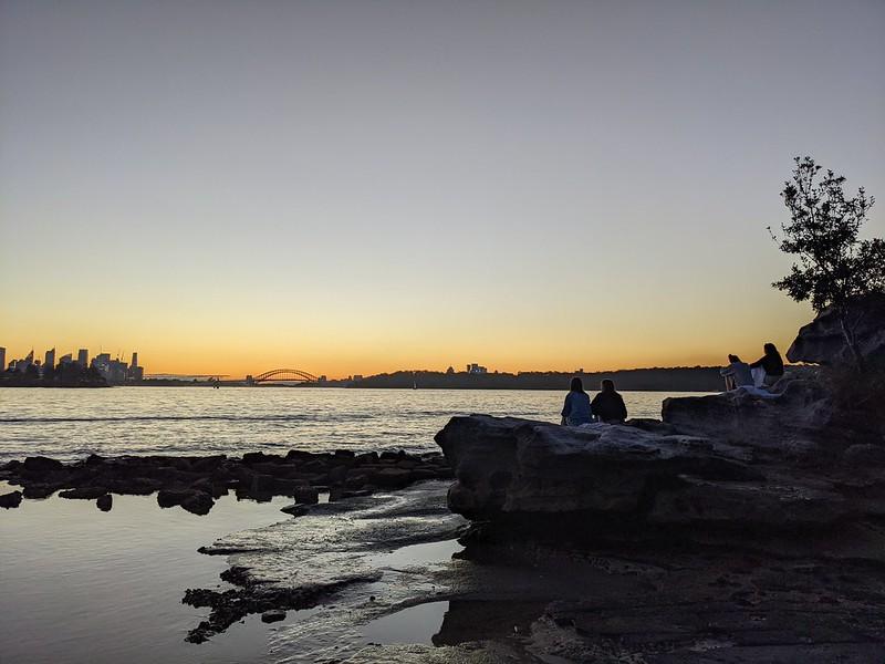 Watching the sunset at Milk Beach