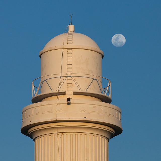 Flagstaff lighthouse & moon