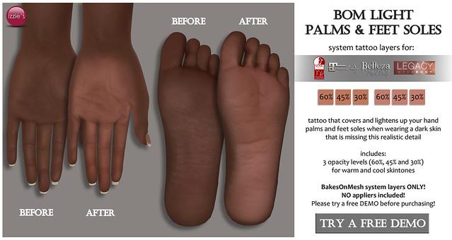Light Palms & Feet Soles (SOS Exclusive)