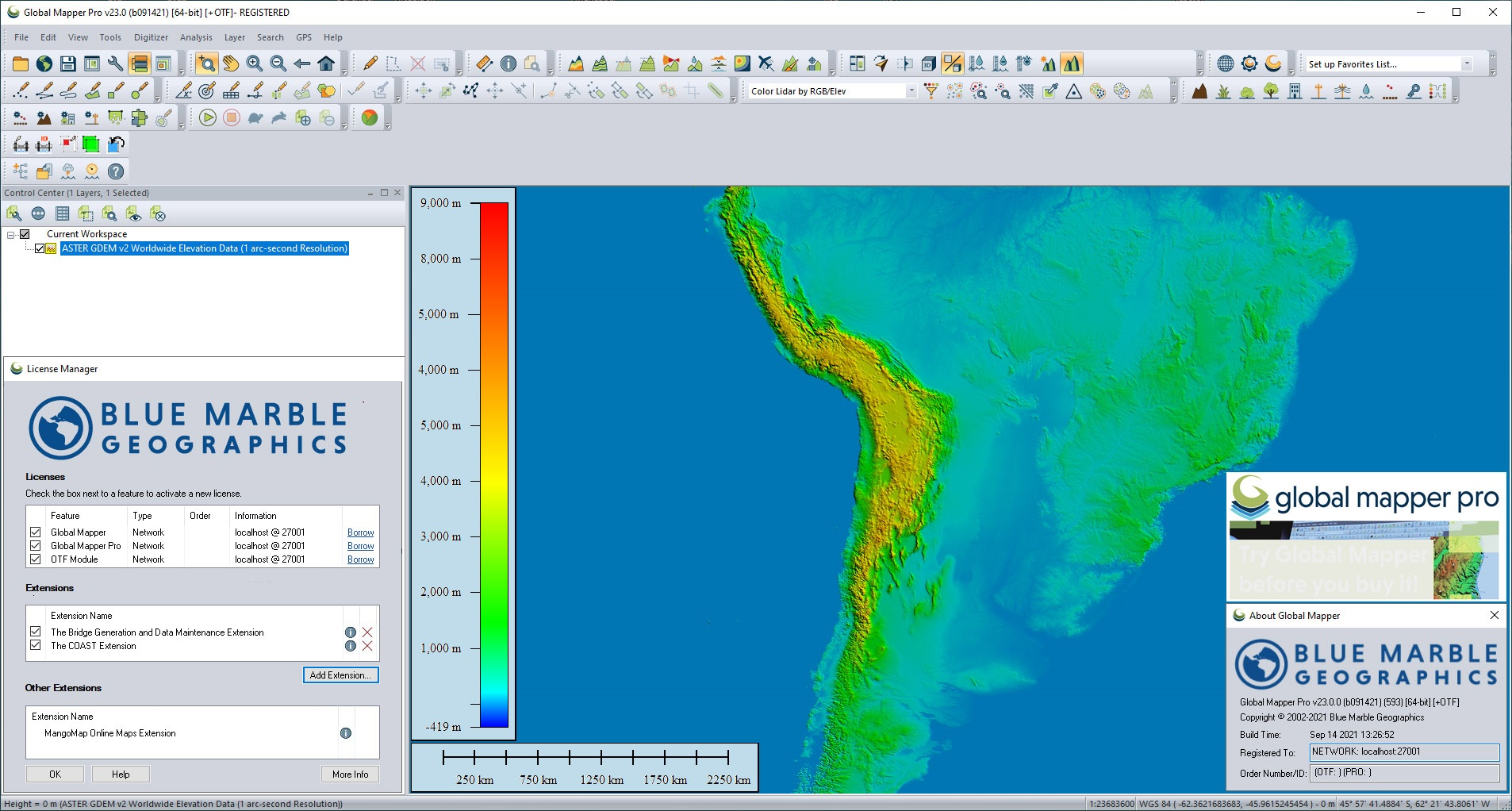 Working with Blue Marble Global Mapper Pro v23.0.0 build 091421 full