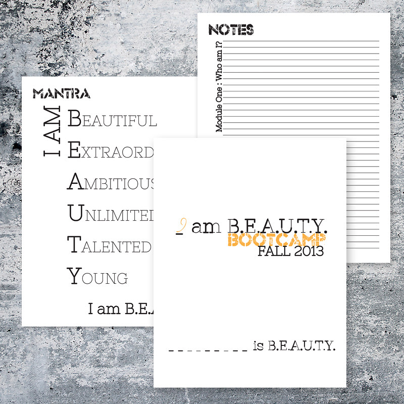 First I am Beauty Bootcamp Packet