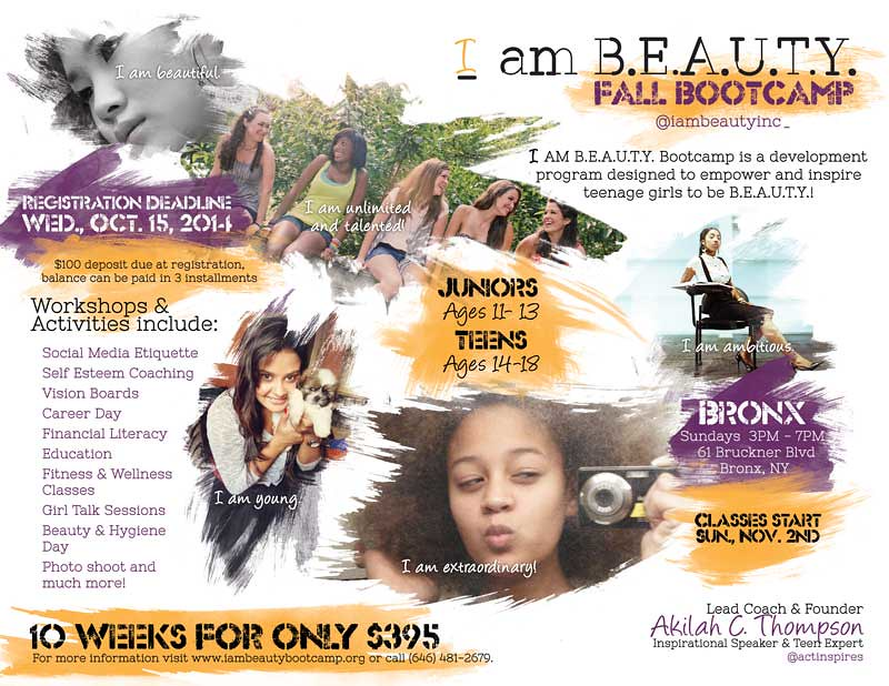 2014 Fall Bootcamp Print Flyer