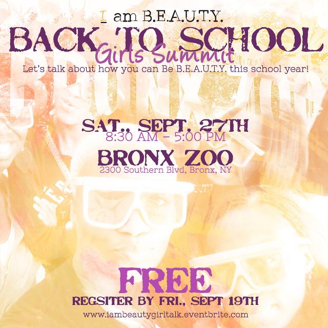 Back to School Girls Summit Social Media Flyer
