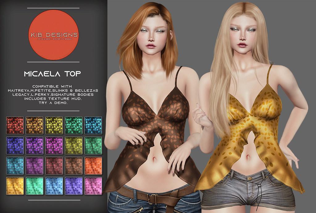 KiB Designs – Micaela Top @Girls Heaven 19th Sept.