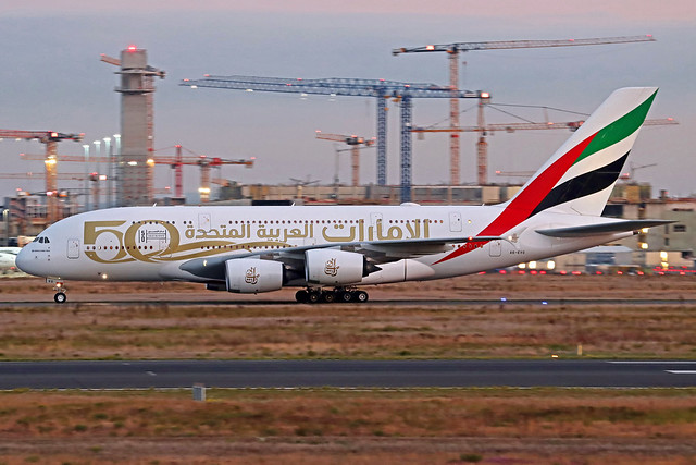 Emirates Airbus A380-842 A6-EVG FRA 17-09-21