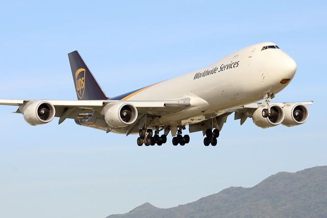 UPS B747-8F N615UP landing HKG/VHHH