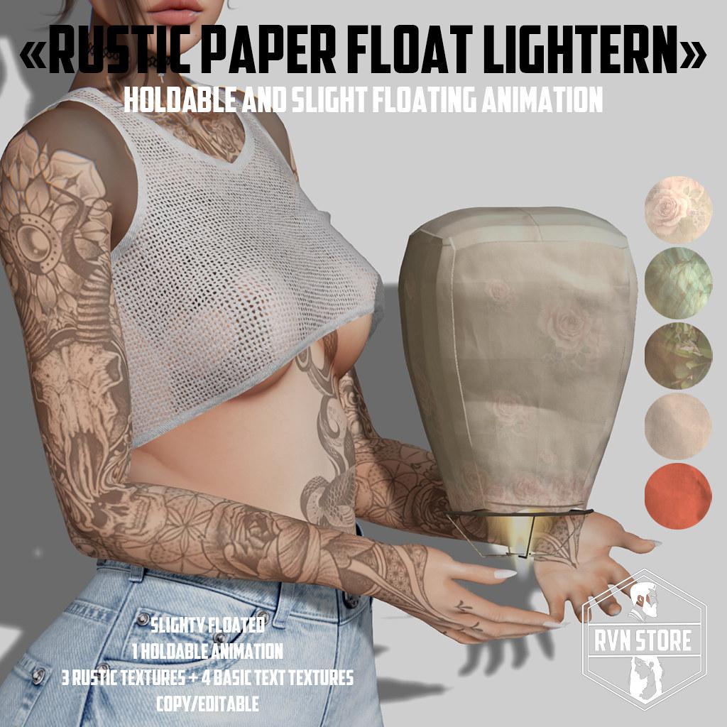 rvn – rustic floatern paper lightern