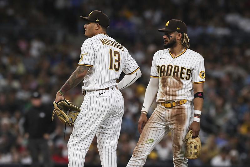 Manny Machado(左)與Fernando Tatis Jr.(右)。(達志影像資料照)