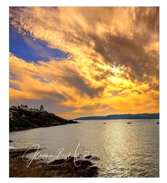 Glimpses of Ireland - Sunset at Roches Point.