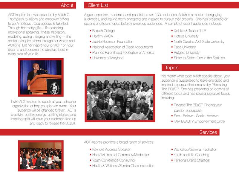 ACT Inspires Interior Brochure
