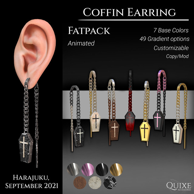 QUIXE - Coffin Earring
