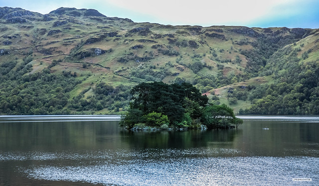 Tarbet Isle, Loch Lomond. One of the smallest of over 30 islands that are scattered across this iconic loch, Argyll, Scotland..