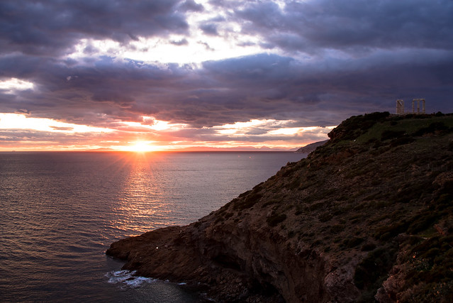 cape sounion - sunset